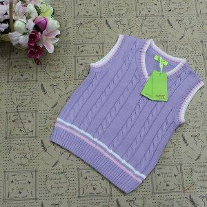 Рост 160-164. Детская жилетка Continion из натурального хлопка пурпурного цвета.