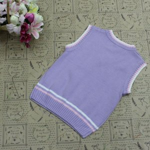 Рост 162-166. Детская жилетка Continion из натурального хлопка пурпурного цвета.