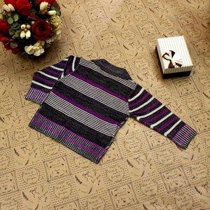 Рост 110-118. Стильная детская кофта Pheren черного цвета с белыми переходами.