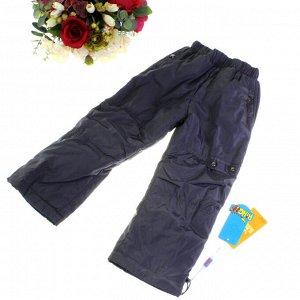 Рост 118-122. Утепленные детские штаны с подкладкой из полиэстера Rihoo  графитового цвета.