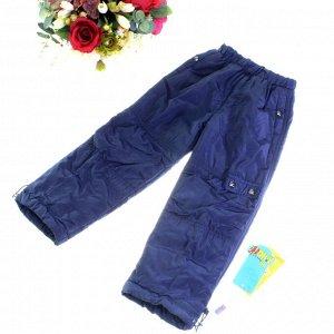 Рост 112-116. Утепленные детские штаны с подкладкой из полиэстера Rihoo цвета темного индиго.