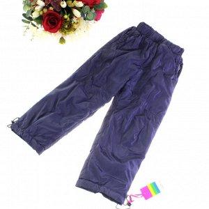 Рост 106-110. Утепленные детские штаны с подкладкой из полиэстера Federlix пурпурно-дымчатого цвета.