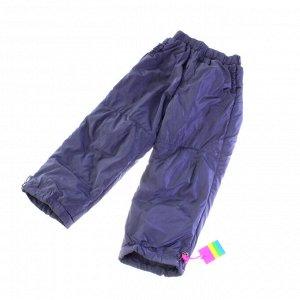 Рост 130-140. Утепленные детские штаны с подкладкой из полиэстера Federlix пурпурно-дымчатого цвета.