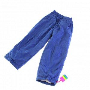 Рост 120-130. Утепленные детские штаны с подкладкой из полиэстера Federlix цвета синего кобальта.