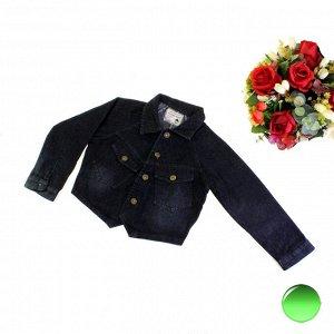Рост 130-140. Стильная детская джинсовска Tong_Felros черного цвета.