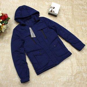 Стильная демисезонная мужская куртка Dal_Freddo цвета индиго.