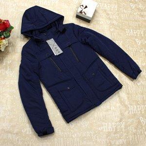 Размер 40. Стильная демисезонная мужская куртка Dal_Freddo сумеречно-синего цвета.
