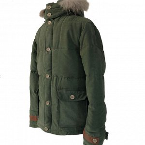 Размер 46. Современная утепленная мужская куртка Adrian цвета Army Green.