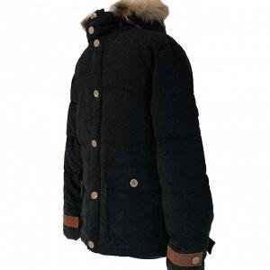 Размер 48. Современная утепленная мужская куртка Adrian черного цвета.