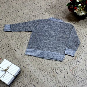 Рост 118-126. Стильная детская кофта Frelson бежевого цвета с черными переходами.