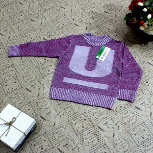 Рост 100-108. Стильная детская кофта Frelson карминового цвета с серыми переходами.