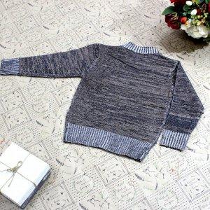 Рост 108-116. Стильная детская кофта Laserow коричневого цвета с черными переходами.