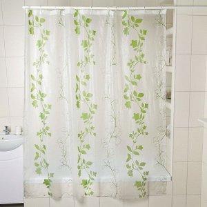 Штора для ванной комнаты Доляна «Вьюнк», 180?180 см, EVA