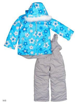 №114 Комплект для девочки голубой-серый