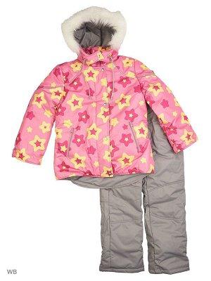 №114 Комплект для девочки розовый-серый