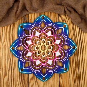 """Заготовка для вязания """"Ловец снов цветной. Цветок"""" 3мм"""