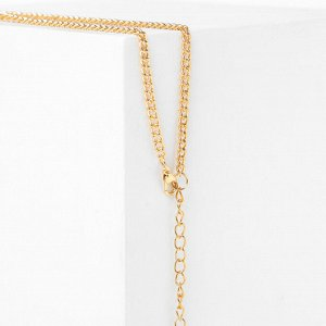 """Кулон """"Морской конёк"""", разноцветный в золоте, 65см Y59998"""
