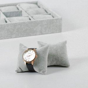 Подставка для часов, браслетов, 12 шт, 35*24*5 см, цвет серый