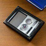 нАбор подарочный 4в1 (2 ручки, визитница, компас) микс