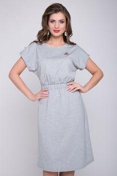 Платье Ткань: Турецкий трикотаж ( Вискоза 80%, п/э 10%, эластан 10%) Стильное платье из мягкого трикотажа - идеально подойдет в офис или на каждый день! Платье отрезное по линии талии с широкой резинк
