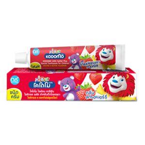 LION KODOMO Детская зубная паста Клубника, 65гр 6+