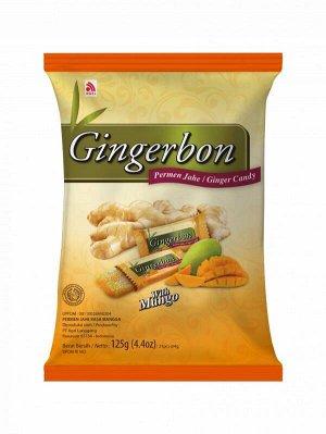 Имбирные конфеты  жевательные с манго Gingerbon, 125г.