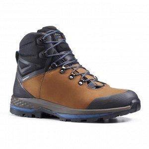 Ботинки кожаные для треккинга непромокаемые мужские TREKKING 100 FORCLAZ