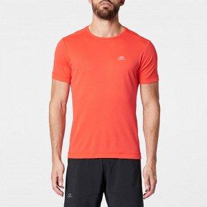 Футболка для бега мужская run dry красная kalenji
