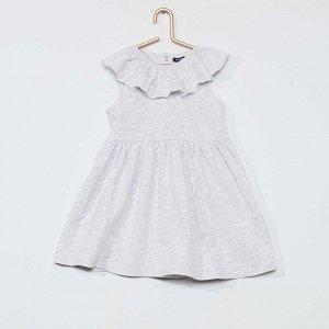 Комплект платье + трусики - серый в горох
