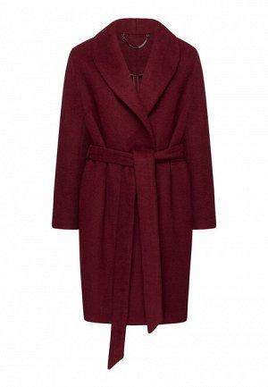 Пальто из драпа без застёжки с добавлением шерсти