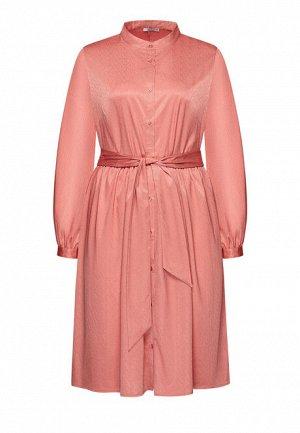 Платье с поясом, цвет розовый