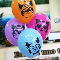 """14""""шар воздушный с рисунком Котики"""