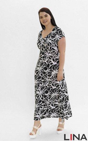 """Платье бирюза, фуксия ,цветы графика. Женственное платье """"в пол"""" с короткими спущенными рукавами и глубоким фигурным вырезом горловины. Фасон модели с облегающим верхом и свободным низом. Линия лифа н"""