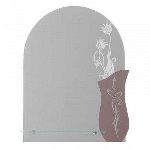 Зеркало «Нимфа», настенное, с полочкой, 50x67 см