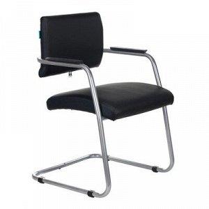 Кресло CH-271N-V/SL/BLACK, полозья металлик, искусственная кожа