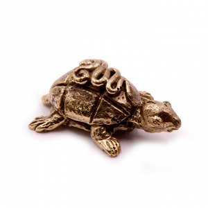 Фигурка Черепаха бронза 1,5 х 3,5 см