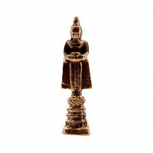 Фигурка Будда в плаще стоит 4,5 х 1 см бронза
