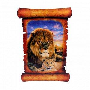 Картина объемная Лев 42,5 х 29,5см ХДФ