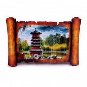Картина объемная Пагода 42,5 х 29,5см ХДФ