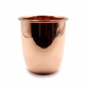 Медный стакан для настаивания медной воды d-9см h-10см 400ml 140гр