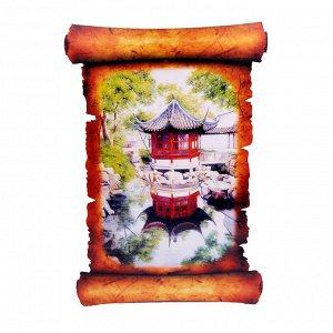 Картина объемная Китайский сад 42,5 х 29,5см ХДФ