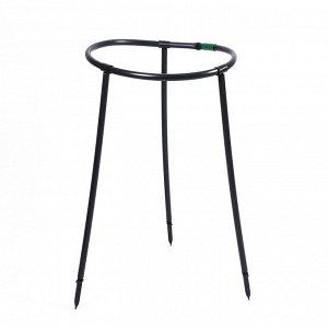 Кустодержатель, d = 48 см, h = 70 см, ножка d = 2 см, пластик, чёрный «Роза»