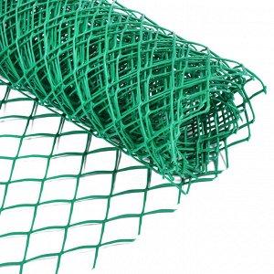 Сетка садовая, 0.5 ? 5 м, ячейка 4 ? 4 см, зелёная, Greengo