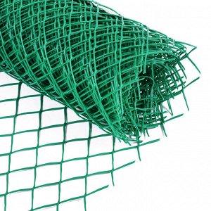 Сетка садовая 0.5 ? 10 м, ячейка 4 ? 4 см, зелёная, Greengo