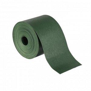 Лента бордюрная, 0.1 ? 10 м, толщина 1.2 мм, пластиковая, зелёная, Greengo
