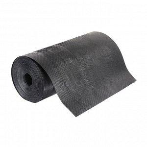 Лента бордюрная, 0.3 ? 10 м, толщина 1.2 мм, пластиковая чёрная, Greengo