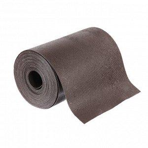 Лента бордюрная, 0.2 ? 10 м, толщина 1.2 мм, пластиковая, коричневая, Greengo