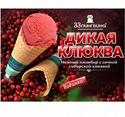 33 пингвина-63 Акция на банан в шоколаде, пирожные — Мороженое (мини-ванны 1,3 кг) — Мороженое
