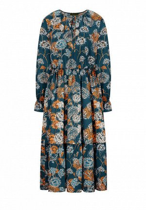 Длинное платье, мультицвет