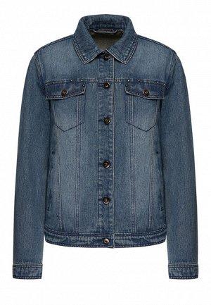 Джинсовая куртка с металлическим декором, цвет синий